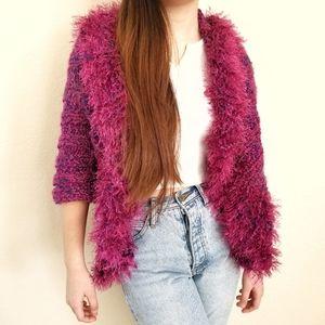 Vintage Handmade Knitted Sweater Cardigan